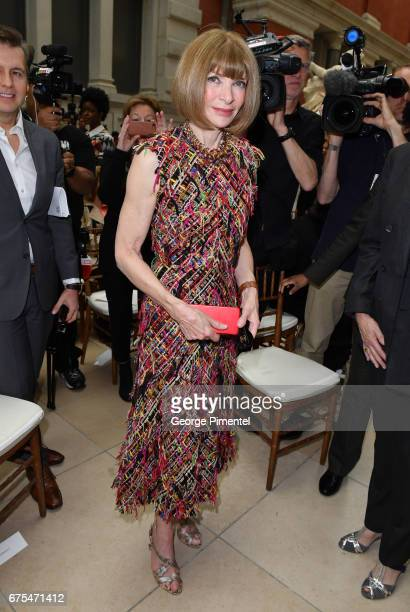 Anna Wintour attends 'Rei Kawakubo/Comme des Garcons Art Of The InBetween' Costume Institute Gala Press Preview at Metropolitan Museum of Art on May...