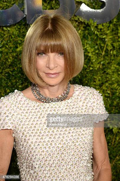 Anna Wintour attends the 2015 Tony Awards at Radio City Music Hall on June 7 2015 in New York City