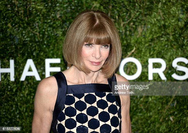 Anna Wintour attends the 2016 God's Love We Deliver Golden Heart Awards dinner at Spring Studios on October 17 2016 in New York City