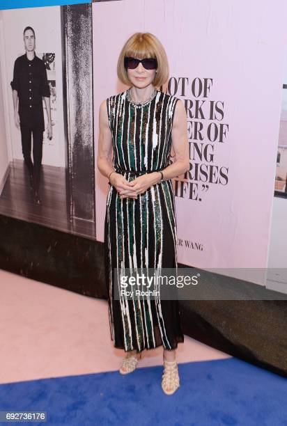 Anna Wintour attends the 2017 CFDA Fashion Awards at Hammerstein Ballroom on June 5 2017 in New York City