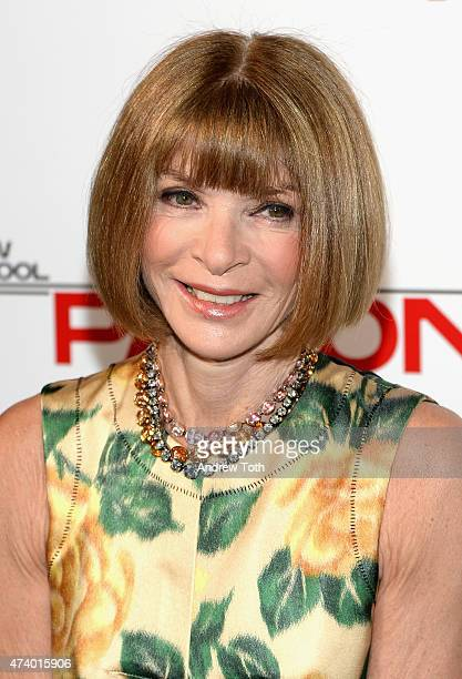 Anna Wintour attends the 67th Annual Parsons Fashion Benefit at River Pavillion at the Jacob Javitz Center on May 19 2015 in New York City