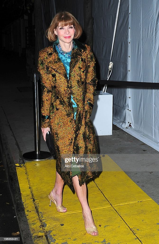 Anna Wintour attends the 9th annual CFDA/Vogue Fashion Fund Awards at Center 548 on November 13, 2012 in New York City.