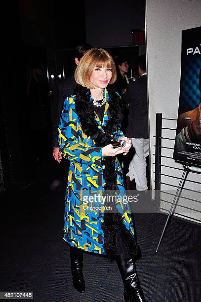 Anna Wintour attends the 'Alan Partridge' New York screening reception on April 2 2014 in New York City