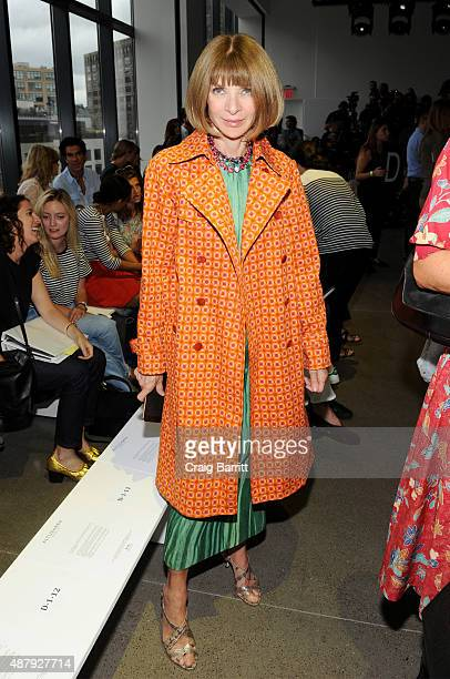 Anna Wintour attends the Altuzarra Spring 2016 fashion show during New York Fashion Week at Spring Studios on September 12 2015 in New York City
