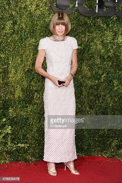 Anna Wintour attends the American Theatre Wing's 69th Annual Tony Awards at Radio City Music Hall on June 7 2015 in New York City