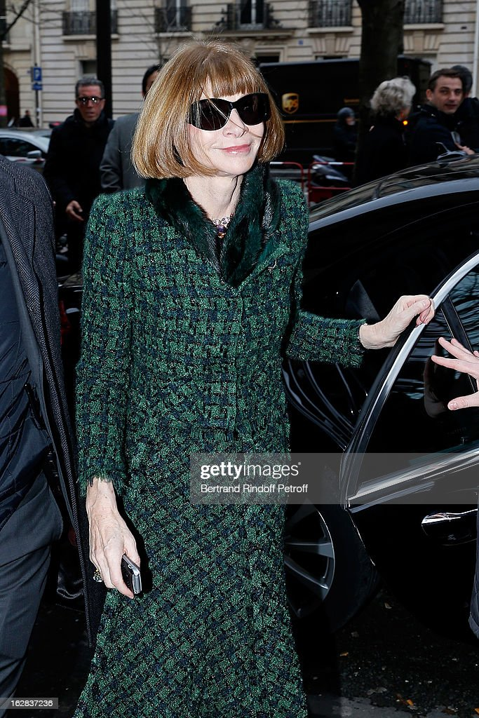 <a gi-track='captionPersonalityLinkClicked' href=/galleries/search?phrase=Anna+Wintour&family=editorial&specificpeople=202210 ng-click='$event.stopPropagation()'>Anna Wintour</a> attends the Balenciaga Fall/Winter 2013 Ready-to-Wear show as part of Paris Fashion Week on February 28, 2013 in Paris, France.