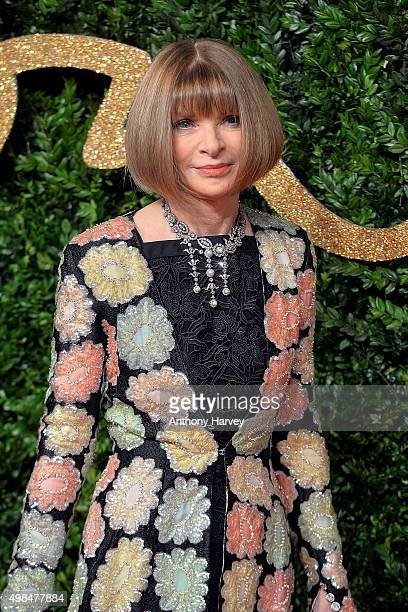 Anna Wintour attends the British Fashion Awards 2015 at London Coliseum on November 23 2015 in London England