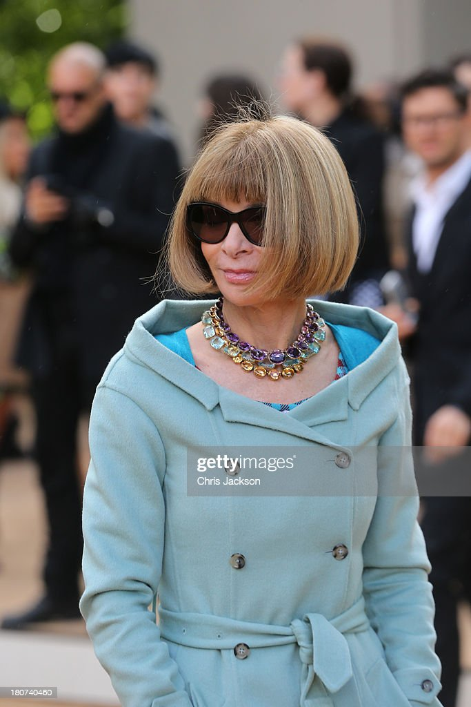<a gi-track='captionPersonalityLinkClicked' href=/galleries/search?phrase=Anna+Wintour&family=editorial&specificpeople=202210 ng-click='$event.stopPropagation()'>Anna Wintour</a> attends the Burberry Prorsum show at London Fashion Week SS14 at Kensington Gardens on September 16, 2013 in London, England.
