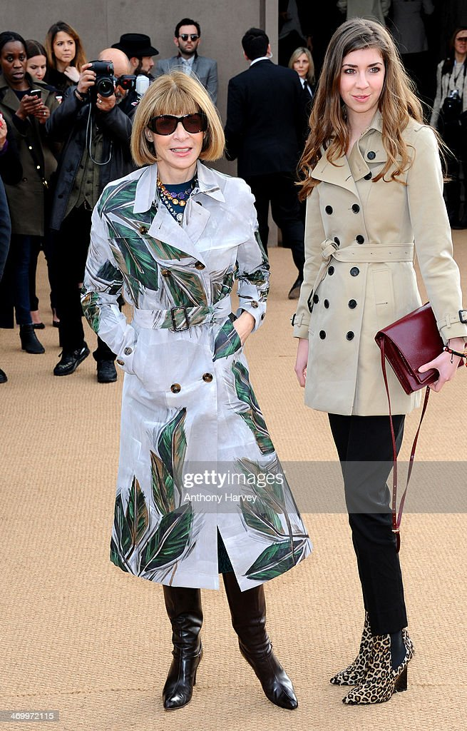 Anna Wintour attends the Burberry Prorsum show at London Fashion Week AW14 at Kensington Gardens on February 17, 2014 in London, England.
