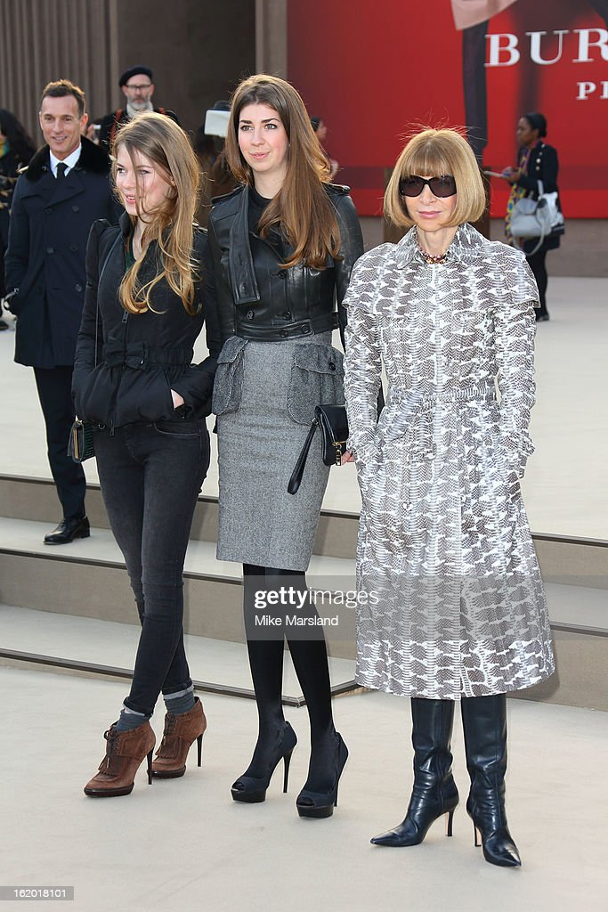 Anna Wintour attends the Burberry Prorsum show during London Fashion Week Fall/Winter 2013/14 at on February 18, 2013 in London, England.