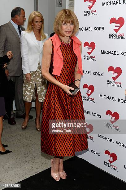 Anna Wintour attends the celebration of God's Love We Deliver returning to Soho with a dedication of the new Michael Kors building on June 9 2015 in...
