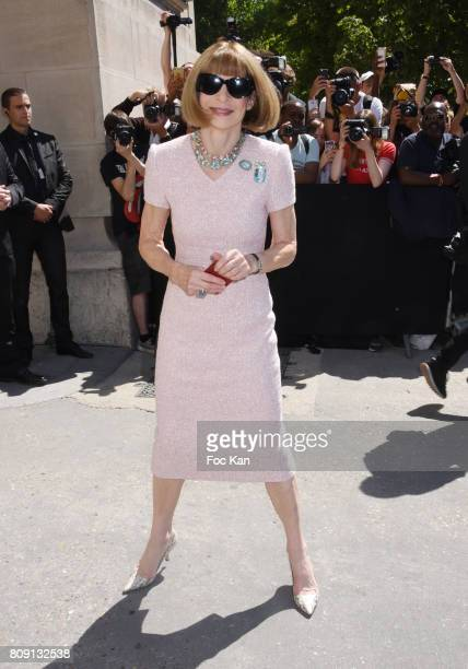 Anna Wintour attends the Chanel Haute Couture Fall/Winter 20172018 show as part of Paris Fashion Week on July 4 2017 in Paris France