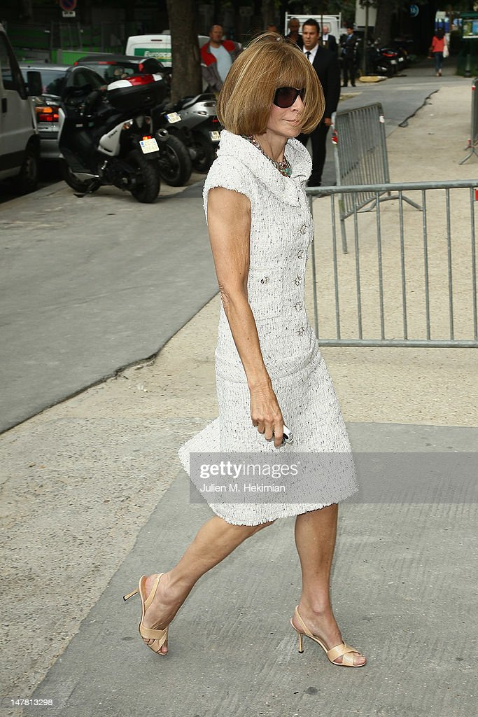 Anna Wintour attends the Chanel Haute-Couture Show as part of Paris Fashion Week Fall / Winter 2012/13 at Grand Palais on July 3, 2012 in Paris, France.