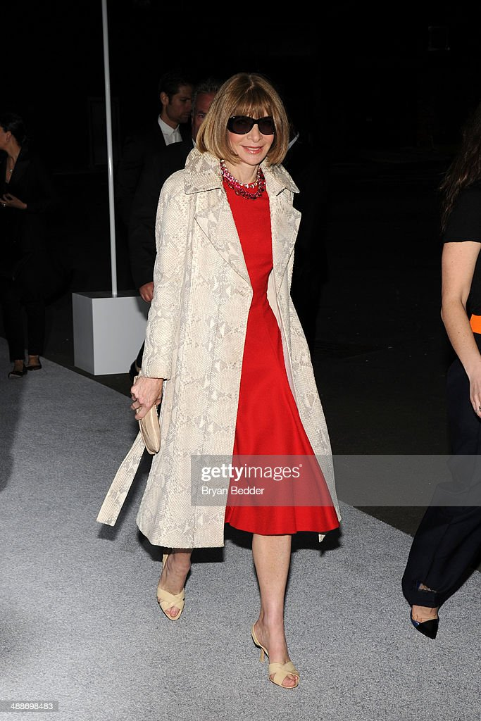 Anna Wintour attends the Christian Dior Cruise 2015 Show on May 7, 2014 in Brooklyn, New York City.