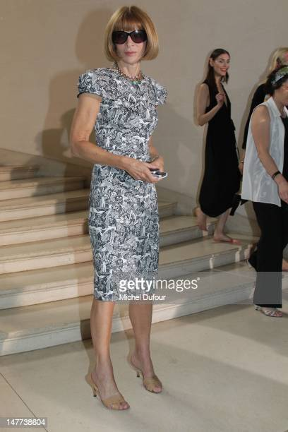 Anna Wintour attends the Christian Dior HauteCouture Show as part of Paris Fashion Week Fall / Winter 2013 on July 2 2012 in Paris France