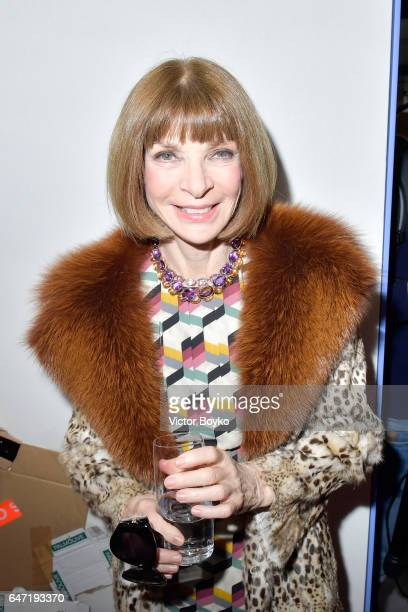 Anna Wintour attends the Cocktail Reception For The LVMH PRIZE 2017 on March 2 2017 in Paris France