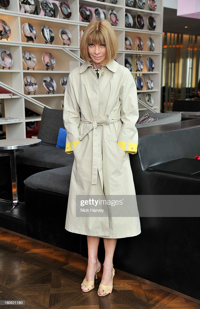 Anna Wintour attends the Eco-Age and Green Carpet Challenge screening of Handprint at W London - Leicester Square on September 14, 2013 in London, United Kingdom.