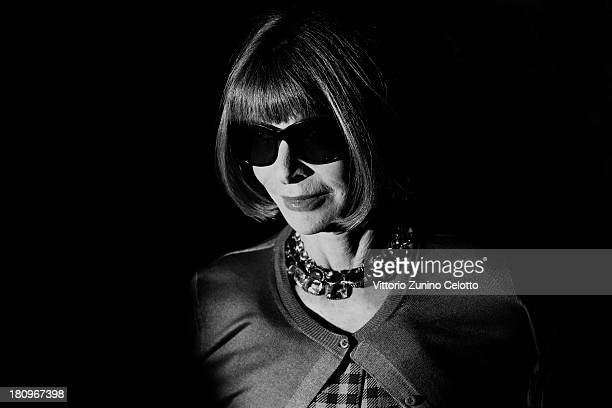 Anna Wintour attends the Gucci show as part of Milan Fashion Week Womenswear Spring/Summer 2014 on September 18 2013 in Milan Italy