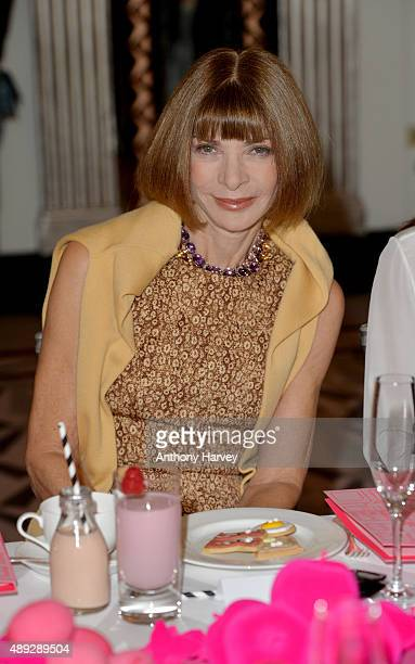 Anna Wintour attends the Hill Friends presentation during London Fashion Week SS16 on September 20 2015 in London England