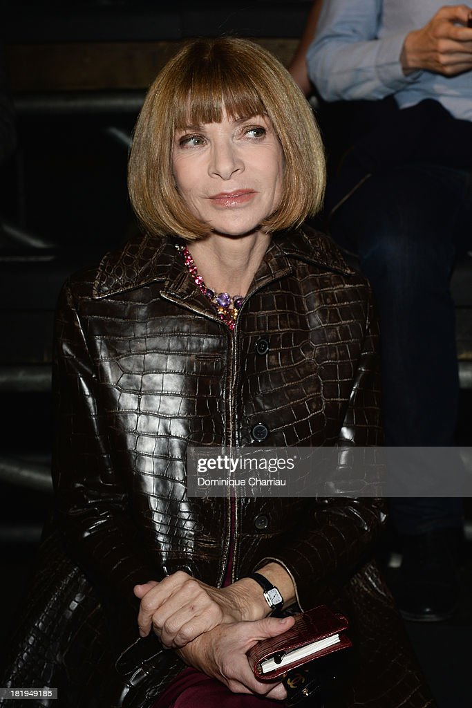 <a gi-track='captionPersonalityLinkClicked' href=/galleries/search?phrase=Anna+Wintour&family=editorial&specificpeople=202210 ng-click='$event.stopPropagation()'>Anna Wintour</a> attends the Lanvin show as part of the Paris Fashion Week Womenswear Spring/Summer 2014 on September 26, 2013 in Paris, France.