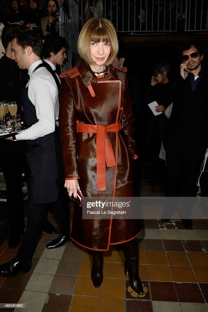 <a gi-track='captionPersonalityLinkClicked' href=/galleries/search?phrase=Anna+Wintour&family=editorial&specificpeople=202210 ng-click='$event.stopPropagation()'>Anna Wintour</a> attends the Lanvin show as part of the Paris Fashion Week Womenswear Fall/Winter 2015/2016 on March 5, 2015 in Paris, France.