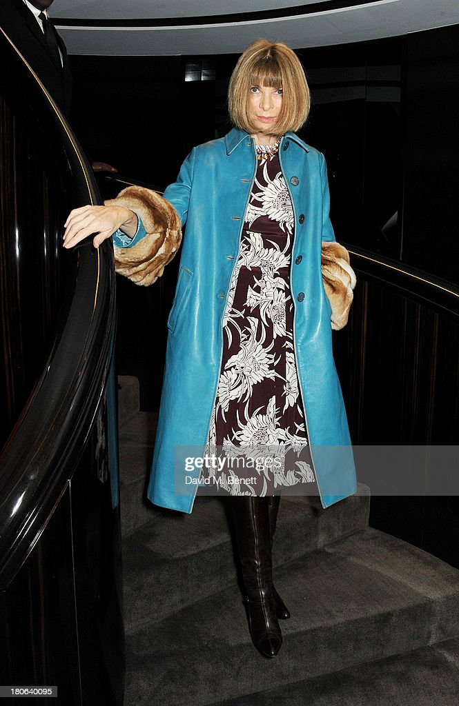 Anna Wintour attends the launch of the new Tom Ford London flagship store on Sloane Street on September 15, 2013 in London, England.