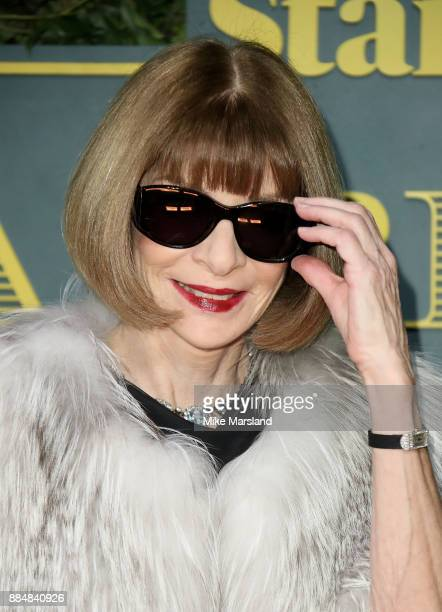 Anna Wintour attends the London Evening Standard Theatre Awards at Theatre Royal on December 3 2017 in London England