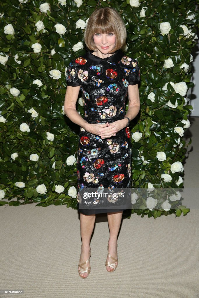 Anna Wintour attends the Museum of Modern Art 2013 Film benefit: A Tribute To Tilda Swinton on November 5, 2013 in New York City.