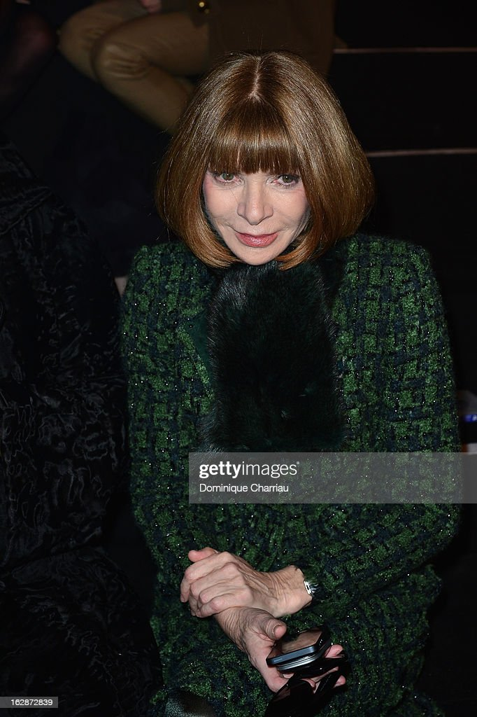 Anna Wintour attends the Nina Ricci Fall/Winter 2013 Ready-to-Wear show as part of Paris Fashion Week on February 28, 2013 in Paris, France.