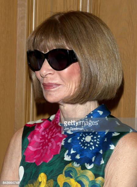Anna Wintour attends the premiere of 'House of Z' hosted by Brooks Brothers with The Cinema Society at Crosby Street Hotel on September 7 2017 in New...