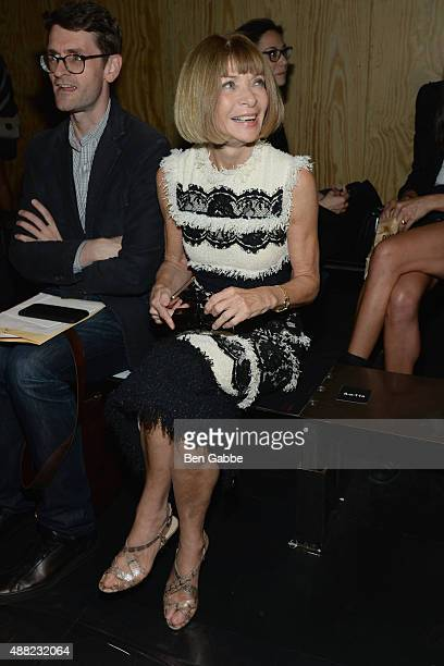 Anna Wintour attends the rag bone Spring 2016 fashion show during New York Fashion Week at St Ann's Warehouse on September 14 2015 in New York City