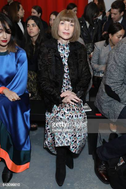 Anna Wintour attends the Roksanda show during the London Fashion Week February 2017 collections on February 20 2017 in London England