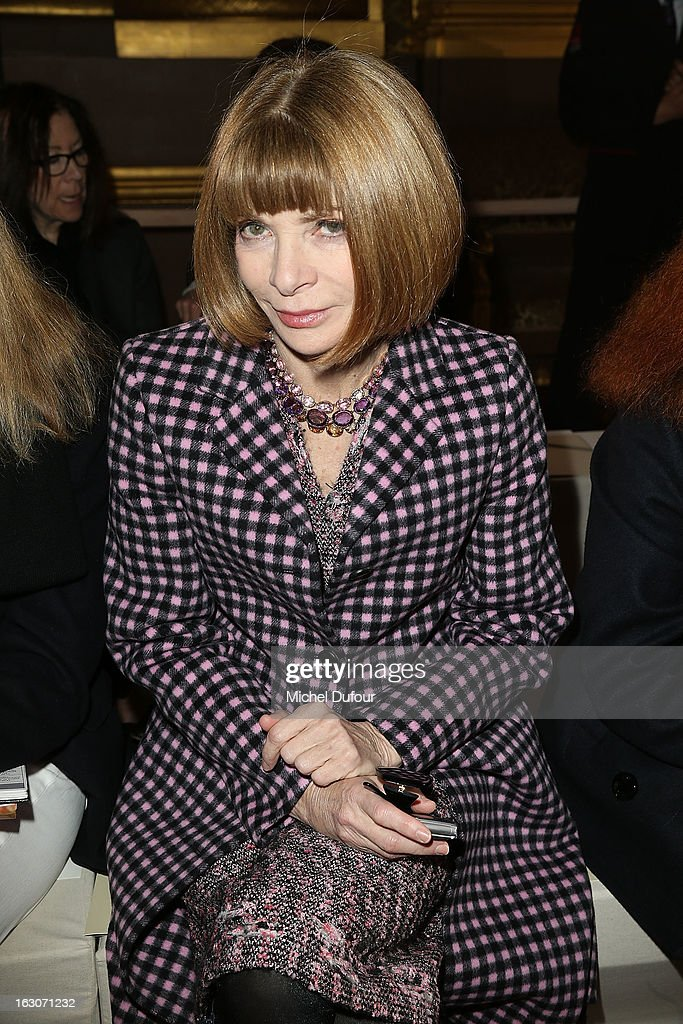<a gi-track='captionPersonalityLinkClicked' href=/galleries/search?phrase=Anna+Wintour&family=editorial&specificpeople=202210 ng-click='$event.stopPropagation()'>Anna Wintour</a> attends the Stella McCartney Fall/Winter 2013 Ready-to-Wear show as part of Paris Fashion Week on March 4, 2013 in Paris, France.