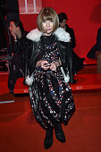 Anna Wintour attends the Versace show during the Milan Fashion Week Autumn/Winter 2015 on February 27 2015 in Milan Italy