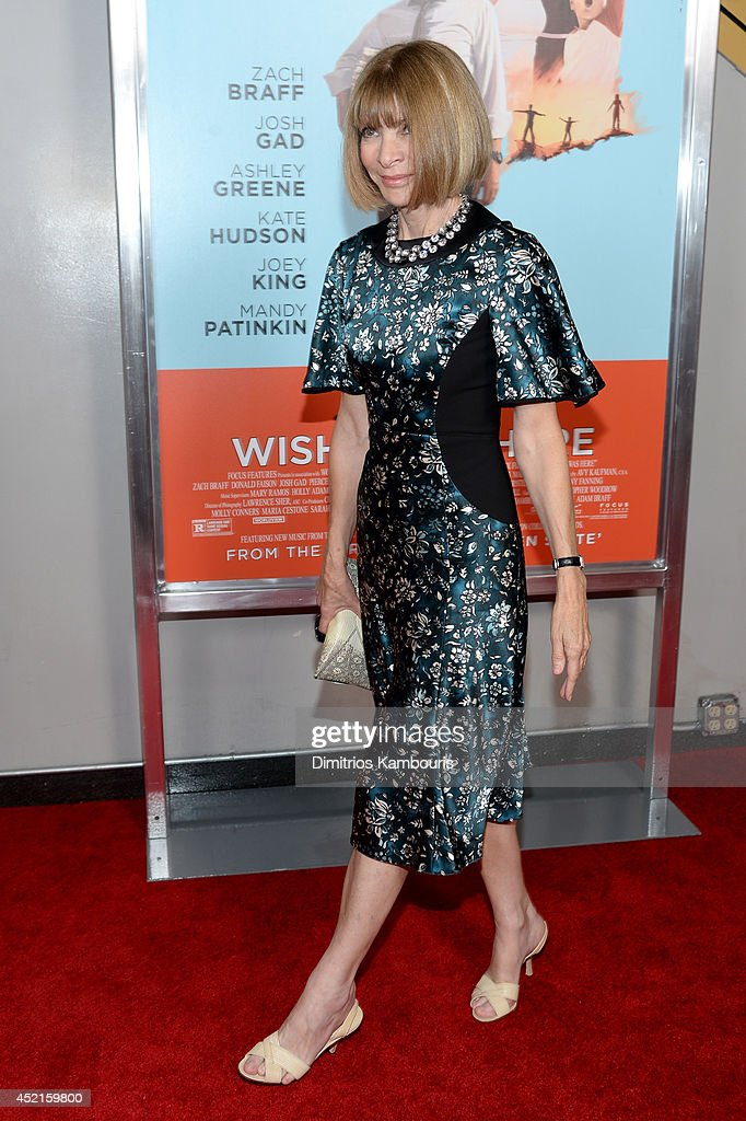 <a gi-track='captionPersonalityLinkClicked' href=/galleries/search?phrase=Anna+Wintour&family=editorial&specificpeople=202210 ng-click='$event.stopPropagation()'>Anna Wintour</a> attends the 'Wish I Was Here' screening at AMC Lincoln Square Theater on July 14, 2014 in New York City.