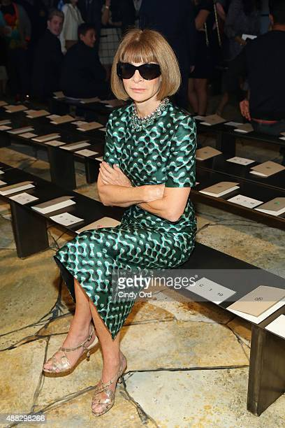Anna Wintour attends Tory Burch Spring 2016 at Avery Fisher Hall at Lincoln Center for the Performing Arts on September 15 2015 in New York City