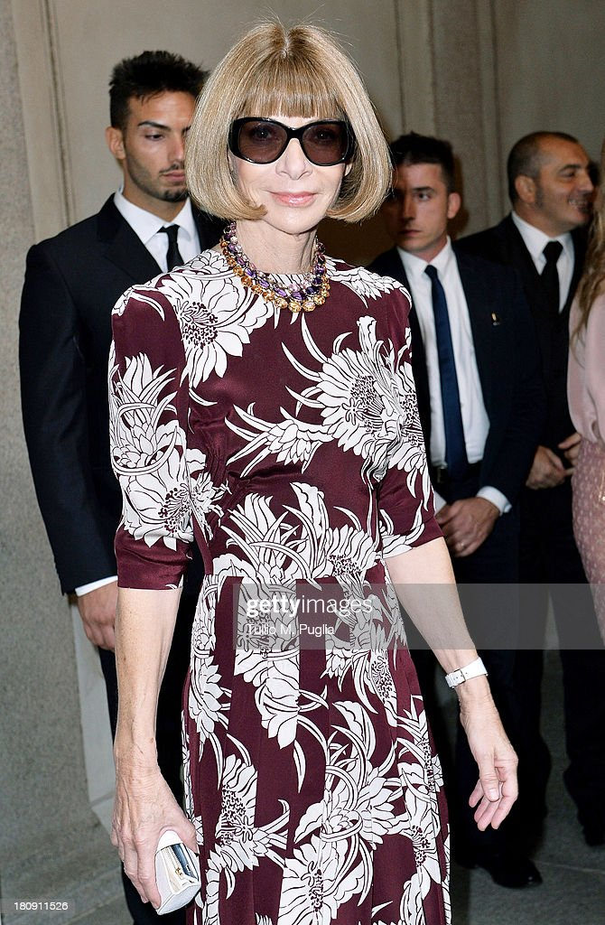 <a gi-track='captionPersonalityLinkClicked' href=/galleries/search?phrase=Anna+Wintour&family=editorial&specificpeople=202210 ng-click='$event.stopPropagation()'>Anna Wintour</a> attends 'Who is On Next? & Vogue Talents' event at Palazzo Morando on September 17, 2013 in Milan, Italy.