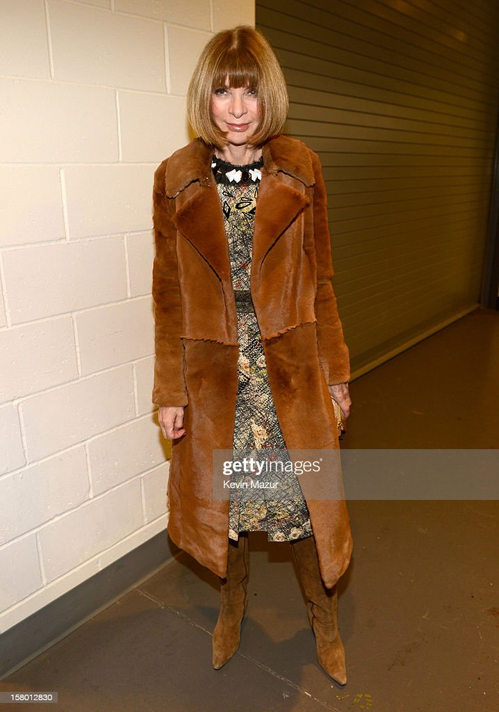 Anna Wintour backstage at Barclays Center of Brooklyn on December 8, 2012 in New York City.