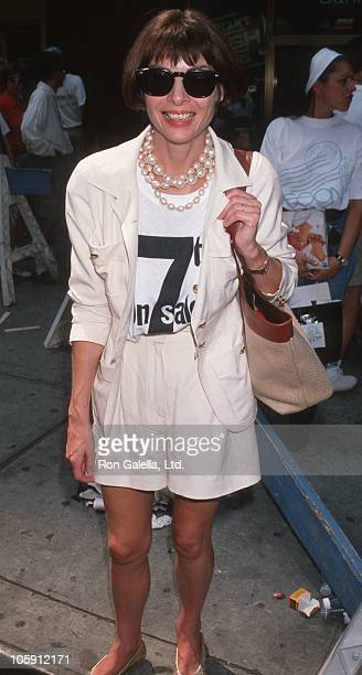 Anna Wintour during 7th On Sale AIDS Fashion Photo Session July 19 1990 at 7th Avenue in New York City New York United States