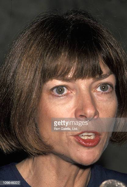 Anna Wintour during CFDA Press Party Gala October 31 1994 at NY Public Library in New York City New York United States