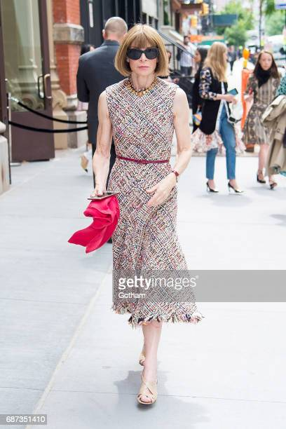 Anna Wintour is seen in NoHo on May 23 2017 in New York City