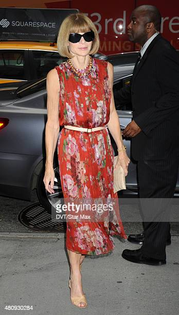 Anna Wintour is seen on July 15 2015 in New York City