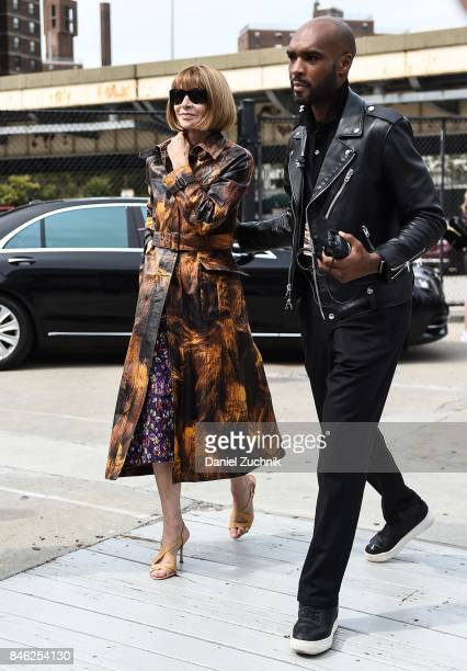 Anna Wintour is seen outside the Coach show during New York Fashion Week Women's S/S 2018 on September 12 2017 in New York City