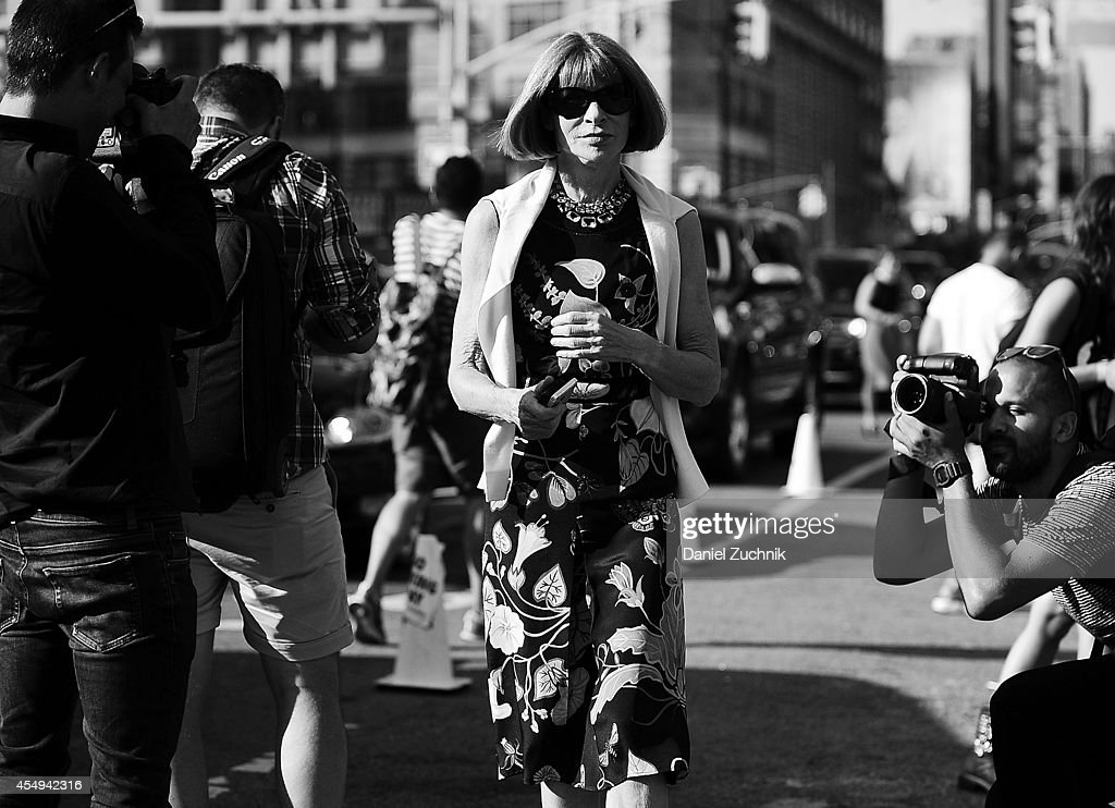 Anna Wintour is seen outside the Diane Von Furstenberg show on September 7, 2014 in New York City.