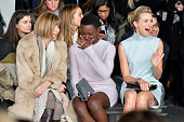 Anna Wintour Lupita Nyong'o and Naomi Watts attend the Calvin Klein Collection fashion show during MercedesBenz Fashion Week Fall 2014 at Spring...