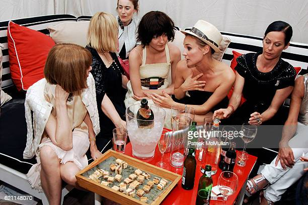 Anna Wintour Patricia Riekel guest Irina Lazareanu Diane Kruger and Lady Amanda Harlech attend CHANEL 2008 Cruise Collection Afterparty at The...