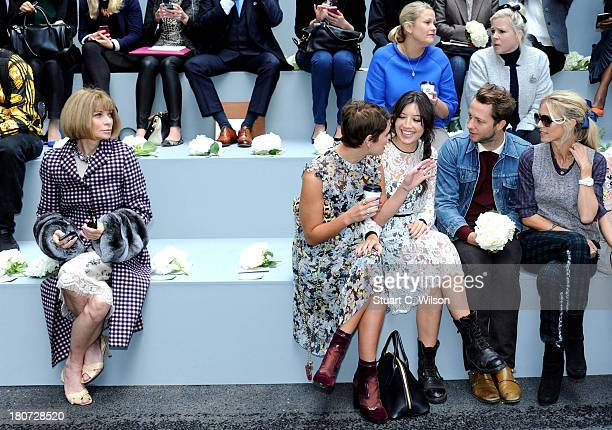 Anna Wintour Pixie Geldof Daisy Lowe Derek Blasberg and Laura Bailey attend the Erdem show during London Fashion Week SS14 at on September 16 2013 in...
