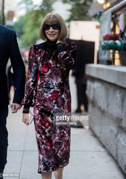 Anna Wintour seen in the streets of Manhattan outside Marc Jacobs during New York Fashion Week on September 13 2017 in New York City