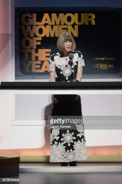 Anna Wintour speaks onstage at Glamour's 2017 Women of The Year Awards at Kings Theatre on November 13 2017 in Brooklyn New York