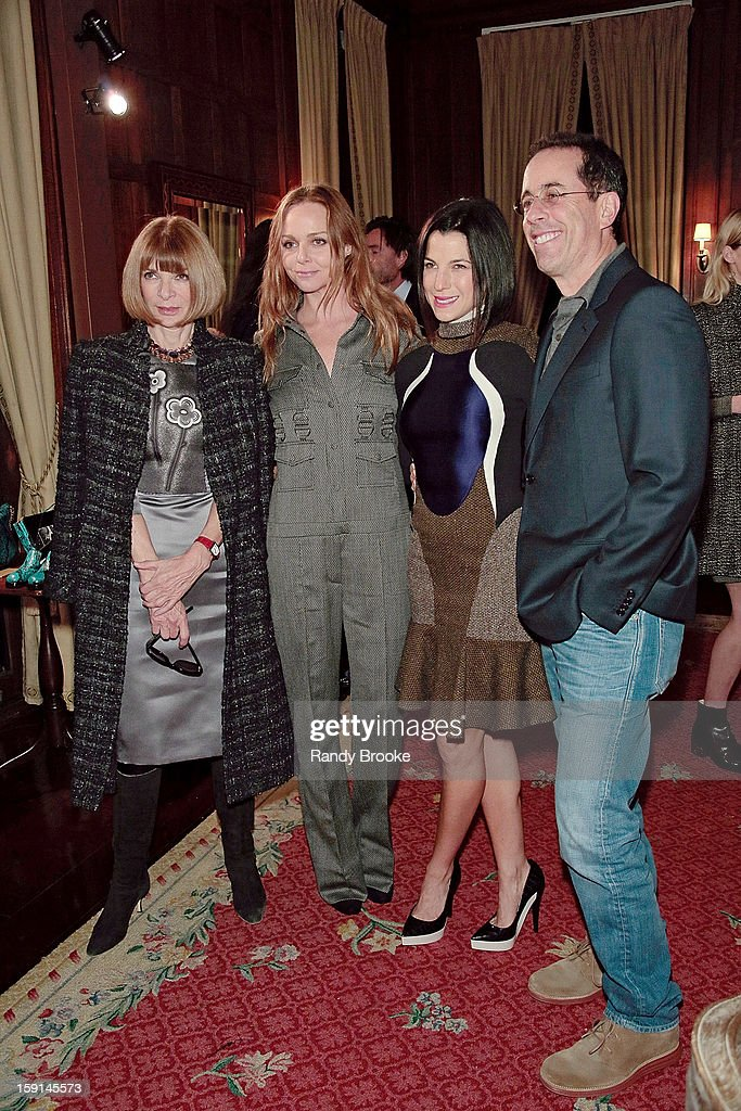 <a gi-track='captionPersonalityLinkClicked' href=/galleries/search?phrase=Anna+Wintour&family=editorial&specificpeople=202210 ng-click='$event.stopPropagation()'>Anna Wintour</a>, Stella McCartney, <a gi-track='captionPersonalityLinkClicked' href=/galleries/search?phrase=Jessica+Seinfeld&family=editorial&specificpeople=206558 ng-click='$event.stopPropagation()'>Jessica Seinfeld</a> and <a gi-track='captionPersonalityLinkClicked' href=/galleries/search?phrase=Jerry+Seinfeld&family=editorial&specificpeople=210541 ng-click='$event.stopPropagation()'>Jerry Seinfeld</a> attend the Stella McCartney Autumn 2013 Presentation at 680 Park Avenue on January 8, 2013 in New York City.